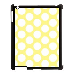 Yellow Polkadot Apple iPad 3/4 Case (Black)