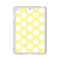 Yellow Polkadot Apple iPad Mini 2 Case (White)