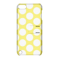 Yellow Polkadot Apple iPod Touch 5 Hardshell Case with Stand