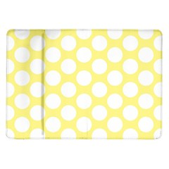 Yellow Polkadot Samsung Galaxy Tab 10 1  P7500 Flip Case