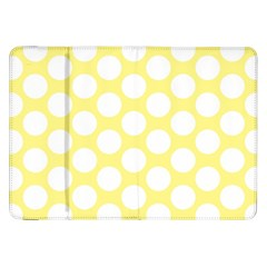 Yellow Polkadot Samsung Galaxy Tab 8.9  P7300 Flip Case