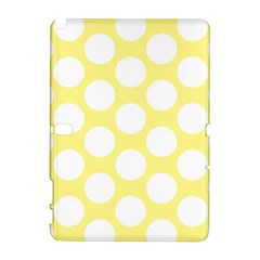 Yellow Polkadot Samsung Galaxy Note 10.1 (P600) Hardshell Case