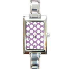 Lilac Polkadot Rectangular Italian Charm Watch