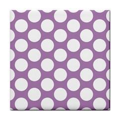 Lilac Polkadot Ceramic Tile