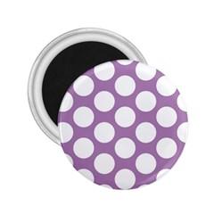 Lilac Polkadot 2.25  Button Magnet