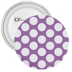 Lilac Polkadot 3  Button