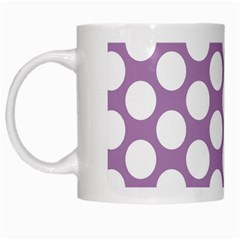 Lilac Polkadot White Coffee Mug