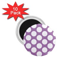 Lilac Polkadot 1.75  Button Magnet (10 pack)