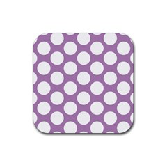 Lilac Polkadot Drink Coasters 4 Pack (Square)