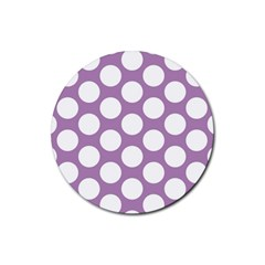 Lilac Polkadot Drink Coasters 4 Pack (Round)