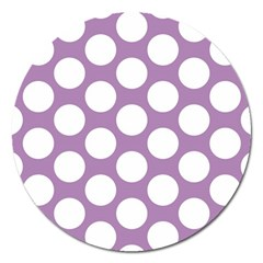 Lilac Polkadot Magnet 5  (round)