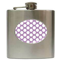Lilac Polkadot Hip Flask