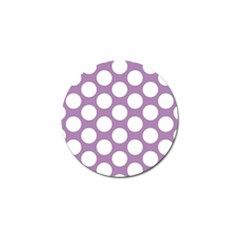Lilac Polkadot Golf Ball Marker 4 Pack