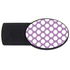 Lilac Polkadot 1GB USB Flash Drive (Oval)