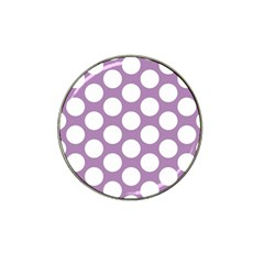 Lilac Polkadot Golf Ball Marker 4 Pack (for Hat Clip)