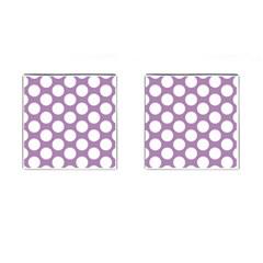 Lilac Polkadot Cufflinks (square)
