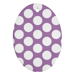 Lilac Polkadot Oval Ornament (Two Sides)