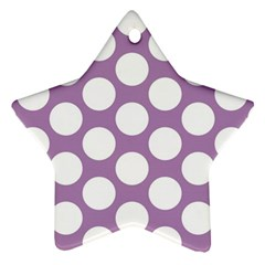 Lilac Polkadot Star Ornament (Two Sides)
