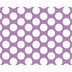 Lilac Polkadot Canvas 16  x 20  (Unframed)