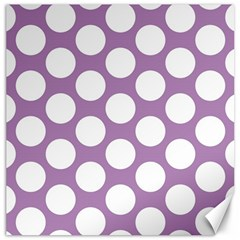 Lilac Polkadot Canvas 20  X 20  (unframed)