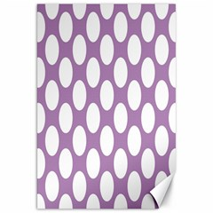 Lilac Polkadot Canvas 20  x 30  (Unframed)