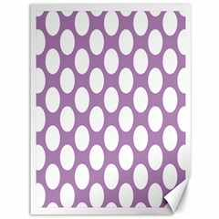 Lilac Polkadot Canvas 36  x 48  (Unframed)