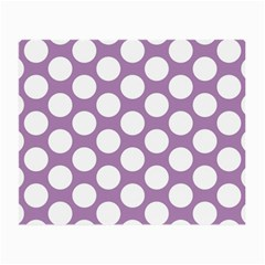 Lilac Polkadot Glasses Cloth (Small, Two Sided)