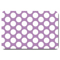 Lilac Polkadot Large Door Mat