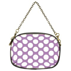 Lilac Polkadot Chain Purse (One Side)