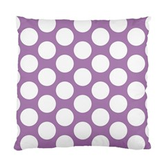Lilac Polkadot Cushion Case (Two Sided)