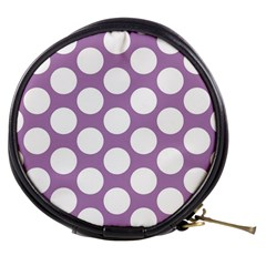 Lilac Polkadot Mini Makeup Case