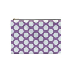 Lilac Polkadot Cosmetic Bag (Medium)