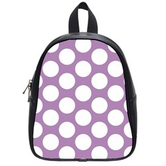 Lilac Polkadot School Bag (Small)
