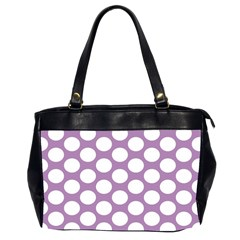 Lilac Polkadot Oversize Office Handbag (Two Sides)