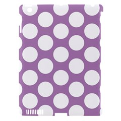 Lilac Polkadot Apple iPad 3/4 Hardshell Case (Compatible with Smart Cover)