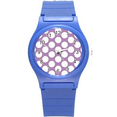 Lilac Polkadot Plastic Sport Watch (Small)