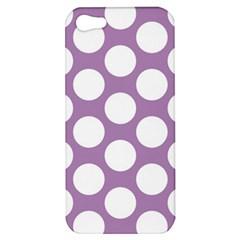 Lilac Polkadot Apple Iphone 5 Hardshell Case