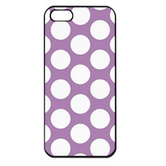 Lilac Polkadot Apple Iphone 5 Seamless Case (black)