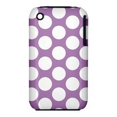 Lilac Polkadot Apple iPhone 3G/3GS Hardshell Case (PC+Silicone)