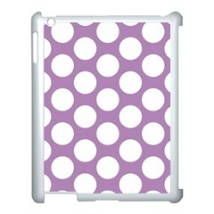 Lilac Polkadot Apple iPad 3/4 Case (White)