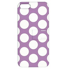 Lilac Polkadot Apple iPhone 5 Hardshell Case with Stand