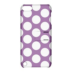 Lilac Polkadot Apple Ipod Touch 5 Hardshell Case With Stand