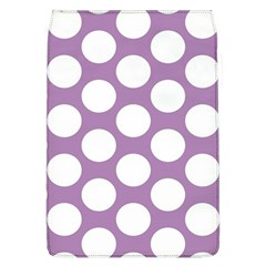 Lilac Polkadot Removable Flap Cover (Large)