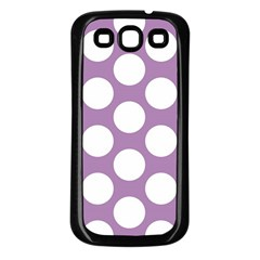 Lilac Polkadot Samsung Galaxy S3 Back Case (Black)