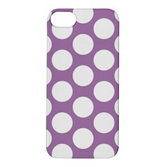 Lilac Polkadot Apple iPhone 5S Hardshell Case
