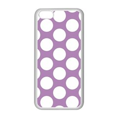 Lilac Polkadot Apple Iphone 5c Seamless Case (white)