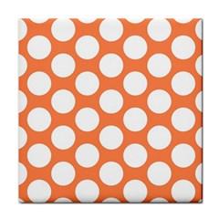 Orange Polkadot Ceramic Tile