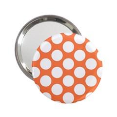Orange Polkadot Handbag Mirror (2.25 )