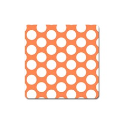 Orange Polkadot Magnet (Square)