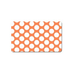 Orange Polkadot Magnet (Name Card)